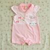 ไซส์ 6-9 เดือน ชุดหมีเด็กผู้หญิงสั้นคอปก - สีชมพู