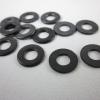 แหวนรองน็อตแบบโลหะสีดำ ขนาด9x4.5 mm.