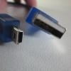 สายสั้น mini(5P) เป็น USB ยาว 30cm สีฟ้าใส