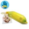 I208 สกุชชี่ Mini Cheeki Banana Squishy- Yellow By Puni-maru (Super Soft) ขนาด 5 cm