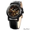 นาฬิกาข้อมือผู้ชายออโตเมติกKS Luxury Automatic Watch KS036 Skeleton หน้าปัดลายฉลุ สายหนังคุณภาพดี