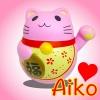 I151 สกุชชี่ แมวกวัก สีชมพู AIKO By Chawa + Happy channel ขนาด13 cm ลิขสิทธิ์แท้ กลิ่นพีช