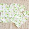 ไซส์ 0-3 เดือน Kerokid ชุดเสื้อผ้าเด็กอ่อน 4 ชิ้น - สีเขียวโลมา