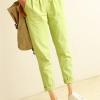 พร้อมส่ง กางเกงผ้าฝ้ายขายาว สีเขียว (size m,l,xl)