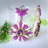 ต่างหูดาราเกาหลี Celebrity Purple Flower