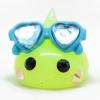 HM130 แก้มยิ้มสีเขียวอ่อน ใส่แว่นสีฟ้า ไซส์ M ขนาด 2 cm.
