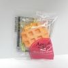CA088 สกุชี่ Aoyama Tokyo waffle Orange(Soft) 5 cm