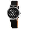 นาฬิกาผู้หญิง Stuhrling Original เครื่อง Swiss Quartz ประดับคริสตัล Swarovski สายหนังสีดำ
