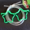 z057 แว่นตาหลอดดูดน้ำ สุดฮิต ใส่แล้วดูดน้ำ เท่ฝุดๆ -สีเขียว