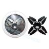 HF131 Hand spinner - GYRO (ไจโร) -Fidget spinner โลหะ เคลือบสี ดำ 4 แฉก