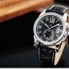 นาฬิกาข้อมือผู้ชายออโตเมติกKS Luxury Automatic Watch KS066 Imperial Black สายหนัง แสดงวันที่แบบหน้าต่าง