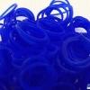 ยางซิลิโคน 100% (น้ำเงิน) 300 เส้น / Silicone Rubber loom 100% (ฺNavy)