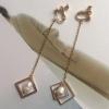 ต่างหูหนีบรูปสรเหลี่ยมแบบมุกห้อยยาว 9.5 cm.