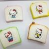 C923 สกุชี่ ขนมปัง Hello Kitty เซต 4 ชิ้น คละแบบ (SUPER SOFT) ขนาด 5 cm