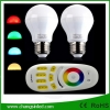 หลอดไฟ LEDไร้สาย wifi Bulb 2.4G 6wx2 RGB เปลี่ยนสีได้+WiFi Remote+ Wifi Controller