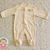 ไซส์ 6-9 เดือน ชุดหมีเด็กคลุมเท้าแขนยาว สีน้ำตาล