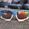 แว่นตาปั่นจักรยาน Oakley Jawbone ฟ้า-ขาว