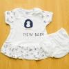 [ไซส์ 6-12 เดือน] ชุดนอนเด็กเล็กแขนสั้น ขาสั้น ผ้านิ่ม