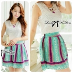 Lady Elena Embroidered Lace Top and Tribal Skirt Set L1-69E