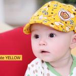 หมวกแก๊ปเด็ก ไซส์ 3-6 เดือน สีเหลือง