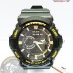 นาฬิกาข้อมือ US Submarine 2ระบบ (ดิจิตอล&เข็ม) สีดำเหลือง กันน้ำ 30 เมตร