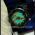 นาฬิกาข้อมือ us submarine 2ระบบ (ดิจิตอล&เข็ม) สีดำทองแวว จอขาว กันน้ำ 30 เมตร