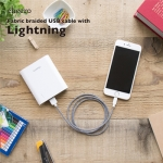 สายชาร์จโทรศัพท์ cheero Fabric braided USB cable with Lightning 100 ซม.