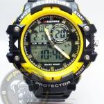 นาฬิกาข้อมือ US Submarine 2ระบบ (ดิจิตอล&เข็ม) สีดำขอบเหลือง รุ่น TP3168M กันน้ำ 30 เมตร