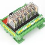 ชุด Omron relay module 24V 10A จำนวน 6 ช่อง