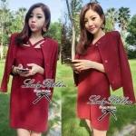 DC-PP-005 Lady Abigal Mini dress Outer Set