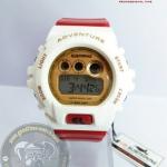 นาฬิกาข้อมือ US Submarine ระบบดิจิตอลหน้าปัดใหญ่ สีขาวสายสีแดง กันน้ำ 30 เมตร