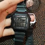 นาฬิการสายยางสีดำ ดิจตอล Fashion01