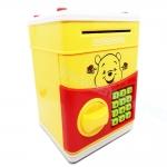KA040 กระปุกออมสิน ตู้เซฟ ดูดเงินอัตโนมัติ ลาย หมีพู