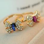 แหวนเพชร รูปโบว์ น่ารักๆ