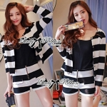 DS-PP-020 Lady Eva Chic Bold Striped Set