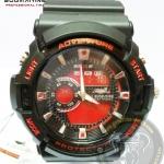นาฬิกาข้อมือ US Submarine 2ระบบ (ดิจิตอล&เข็ม) สีดำหน้าปัดสีแดง กันน้ำ 30 เมตร