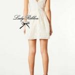 Lady Margaret White Lace Mini dress