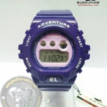 นาฬิกาข้อมือ US Submarine ระบบดิจิตอลหน้าปัดใหญ่ สีม่วง กันน้ำ 30 เมตร