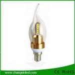 หลอดไฟ LED E14 Crystal Candle Bulb Light Lamp 4W.