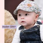 หมวกแก๊ปเด็ก ไซส์ 3-6 เดือน สีเทา