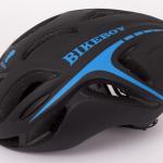 หมวกกันน๊อค จักรยาน BikeBoy สีดำฟ้า พร้อมกระเป๋า BikeBoy