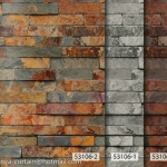 53106-2 วอลเปเปอร์ติดผนัง ลายอิฐ ลายหิน อัลบั้ม สายไหม