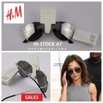 แว่นกันแดด แบรนด์เนม แท้ ยี่ห้อ H&M ทรงตี๋ใหญ่ Rayban Aviator สีดำ พร้อมส่งที่ไทย