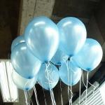 ลูกโป่งมุก สีฟ้า แพค 10 ใบ 50 บาท
