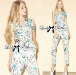 Lady Lilly Pastel Floral Printed Sleeveless Jumpsuit L151-75E09