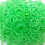 ยาง Premium Grade เรืองแสง (เขียว) 300 เส้น / Premium Grade Rubber loom (green)