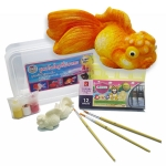 D051 squishy goldenfish ชุดตกแต่งสกุชชี่ ปลาทอง สุดสโล