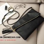 กระเป๋า Givenchy Clutch Bag กระเป๋า คลัช หนังดำ สุดเก๋ๆ chic กับ กระเป๋าคลัช หนังสวย มันเงา ยี่ห้อ Givenchy แท้ พร้อมส่ง พร้อม พู่ ห้อย