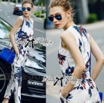 Lady Poppy Tropical Summery Printed Jumpsuit L167-75C06