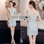 Lady Pastel Flower Embroidered Tulle Mini Dress L275-7911